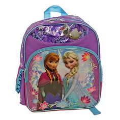 Disney Frozen Elsa and Anna Snowy Small Backpack Bag *** Details can be found by clicking on the image.