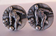 Vintage Sterling Fenwick and Sailors Bowler Cufflinks Vintage Cufflinks, Men's Cufflinks, Perfect Game, Silver Jewelry, Men's Jewelry, Sailors, Bowling, Rings For Men, Fancy