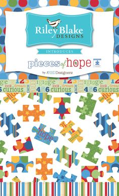 Riley Blake Designs Pieces of Hope Fabric Swatch Storyboard