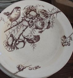 Vintage french plates