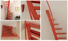 101 of The World's Most Amazing Spiral Staircases Get yours here-> http://www.ladders-online.com/uk/spiral-staircases.html  Number               : 10  Location              :  Netherlands Steps Made From: Steel Banister              : Steel