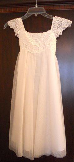 lace flower girl dress by monsoon uk