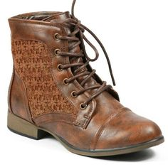 Crochet-Round-Toe-Lace-Up-Fashion-Ankle-Boot