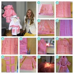 1 Towel Bathrobes for toddlers and kids! Easy Sewing Project - Patterns - Craft Remedy