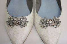 Wedding Shoes Lace Flats Lace Wedding Shoes by Parisxox