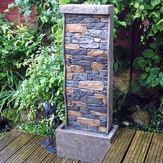 101cm Tall Stone Wall Effect Garden Water Feature with LE... https://www.amazon.co.uk/dp/B00IGAHRFC/ref=cm_sw_r_pi_dp_PQwvxbXBP5H4R