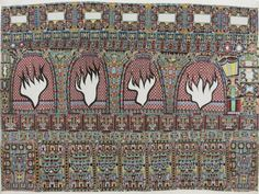 """Farouq Molloy, born Sean Molloy in 1957 in Plymouth, is a British """"outsider"""" artist. He initially drew on graph paper with a black biro, then began working with colours. His patterned drawings incorporate """"Islamic and North African decorative elements"""", reflecting his conversion to Islam in the early 1990s."""