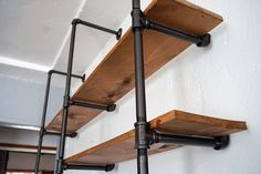 DIY pipe shelf: an easy, budget-friendly addition to any room.