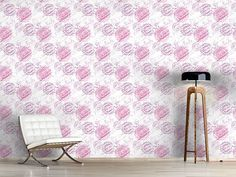Design #Tapete Om Hell Om, Curtains, Shower, Prints, Lavender Paint, Self Adhesive Wallpaper, Asia, Wall Papers, Rain Shower Heads