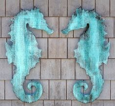 Wooden Seahorse Wall Plaque - eclectic - artwork - new york - Suzanne Nicoll Studio