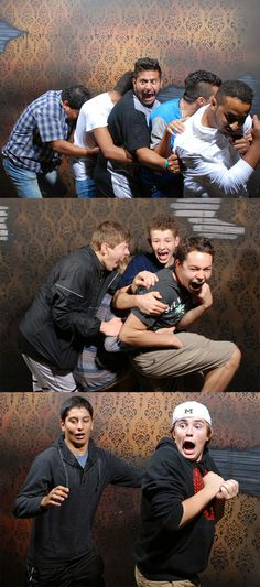 What a bunch of #ScareBros ! #NFF #FEARpic #Halloween #Season #Scared #HauntedHouse #NiagaraFalls #CliftonHill #Attractions #Funny #Reactions #Scared #Nightmares #Fear #Factory