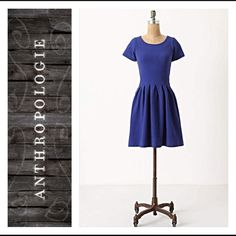 New Arrival Ganni Blue Embossed Basket Dress Ganni blue embossed basket dress from Anthropologie. 95% cotton, 5% elastane. Has some stretch to it. Size medium. As seen on Busy Philipps. **all offers are considered** Anthropologie Dresses Mini