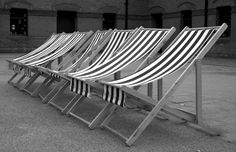 Deck Chairs in St Anne's Park - black and white | by Helen Mulvey