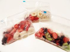 DIY Smoothie Packs with 1 tbs of Greek yogurt