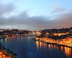 #portugal#porto#river#travel#europe#outback#oporto#historic#Douro river#sunset#city#nightview#light#follow#beautiful#EU#walking by anna_road