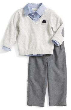 5e374a1b4 Miniclasix Sweater, Shirt & Pants (Baby Boys) available at #Nordstrom  Elbow