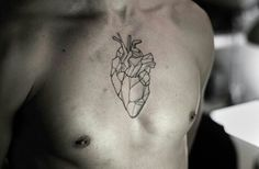 geometric heart tattoo