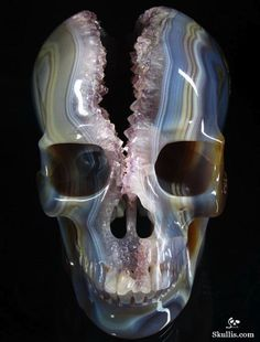 Cool Horror Gear: Geodes carved into skulls - Horror Movie News | Arrow in the Head