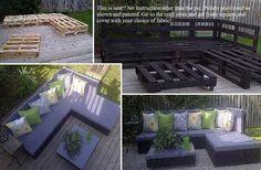Pallet patio DIY