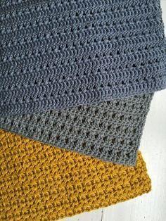 I dag kom der endnu en ny karklud til, og et nyt mønster. Crochet Towel, Diy Crochet, Crochet Crafts, Crochet For Beginners Blanket, Crochet Blanket Patterns, Knitting Patterns, Crochet Afgans, Crochet Dishcloths, Crochet Home Decor