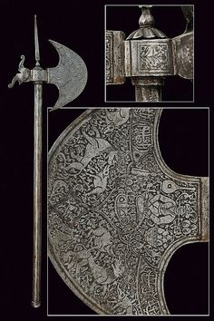 An axe: provenance: Indopersia  dimensions: length 83 cm.  dating: 19th Century