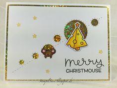 #MerryChristmouse card, #LawnFawn, #SimonSaysStamp #StempelSissi #Sissi_s_kreatives_Kämmerlein
