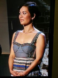 Stacey Poon Kinney on Food Network Star. I love her dress!