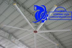 Xianrun Blower HVLS Ceiling Fan Configuration, www.lxrfan.com, xrblower@gmail.com  1. Aviation Aluminum material ceiling fan blade, 2. laser cutting HVLS body shell, 3. high strength magnesium alloy aluminum chassis, 4.High pure steel blade protected sparring, 5. 8 mm high strength junction steel plate, 6. high quality electric cabinet