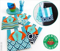 Outdoor Mini Mats with Pockets: Take it Outside! | Sew4Home