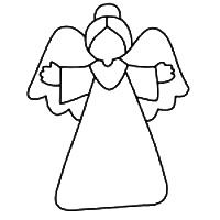 Angel Template to color 4 A Guardian Angel Outline