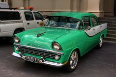 I will have you one day old green Holden