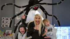 Giant Spider Attacks Girl & Boy & Mom - Daddy Spider Attacks - Freaky M. Giant Spider, Daddy, Mom, Youtube, Giant Huntsman Spider, Youtube Movies