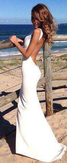Backless Maxi Dress ♥ L.O.V.E.