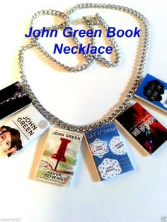 John Green Book Necklace all 6 books The fault in our stars Alaska Paper Towns #Willgraysonwillgrayson #Charm