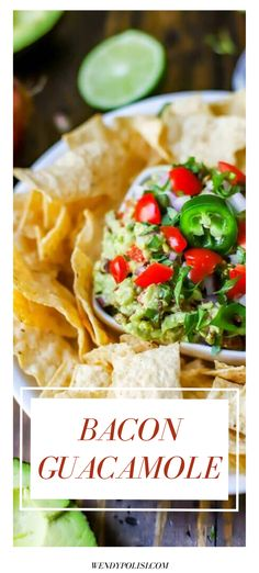 Looking for a delicious game day appetizer?  It doesn't get much better than this Bacon Guacamole.  With a smoky heat and a kick of garlic, this one will keep your taste buds singing. Cold Appetizers, Great Appetizers, Party Appetizers, Healthy Appetizers, Appetizer Recipes, Gluten Free Recipes For Breakfast, Healthy Gluten Free Recipes, Gluten Free Dinner, Paleo