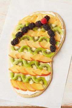 Flip-Flop Fruit and Cookie Dessert – Please the whole crowd with our Flip Flop Fruit Pizza recipe! This fruit pizza is shaped like some of our favorite summer footwear — complete with fresh fruit like nectarines, kiwis, and blackberries.