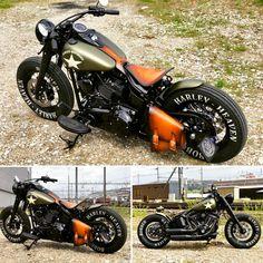 Harley Davidson News – Harley Davidson Bike Pics Harley Davidson Bobber, Classic Harley Davidson, Harley Bobber, Harley Bikes, Softail Bobber, Bobber Bikes, Bobber Motorcycle, Moto Custom, Custom Bobber