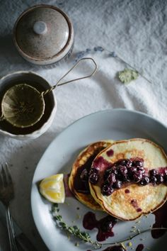 Ricotta, Honey, and Thyme Pancakes