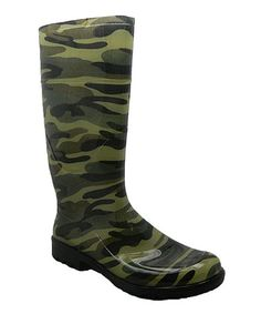 This Camouflage Tall Rain Boot by Chemistry is perfect! #zulilyfinds