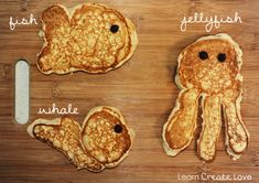 Ocean creatures pancakes - perfect while studying Oceans!