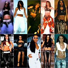 """ DAY 8: FAVOURITE OUTFITS My favourite outfits that Aaliyah wore in her music videos. """