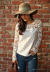 Cut Out Crochet - Vintage-Inspired Top