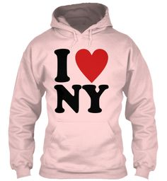 My Lover I Love Ny Light Pink Sweatshirt Front