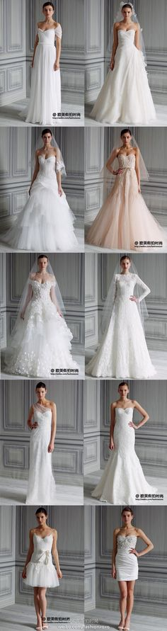 what beautiful wedding dresses!