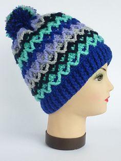 Ravelry: Scandinavian style unisex hat with pompom pattern by Crochet- atelier