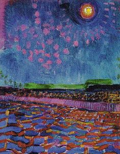 Jan SLUIJTERS (Dutch painter, 1881-1957): Moonlit Night
