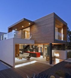 MOD builds super energy-efficient, modular homes - and their Superb-A House in Venice Beach, California is a stellar example of their prefab building system. The Santa Monica-based prefab designer Prefab Buildings, Prefabricated Houses, Architecture Design, Contemporary Architecture, Container Architecture, Contemporary Office, Contemporary Design, Contemporary Stairs, Contemporary Cottage