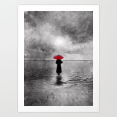 waiting in the sea II  -  by Viviana Gonzalez Art Print by Viviana Gonzalez - $19.95