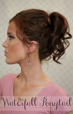 The Freckled Fox: Summers End Hair Week: The Waterfall Ponytail