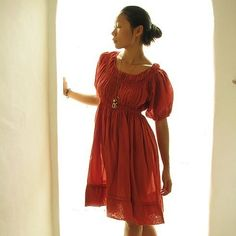 Lyra...Earth red mix silk (one size fits most). $44.00, via Etsy.
